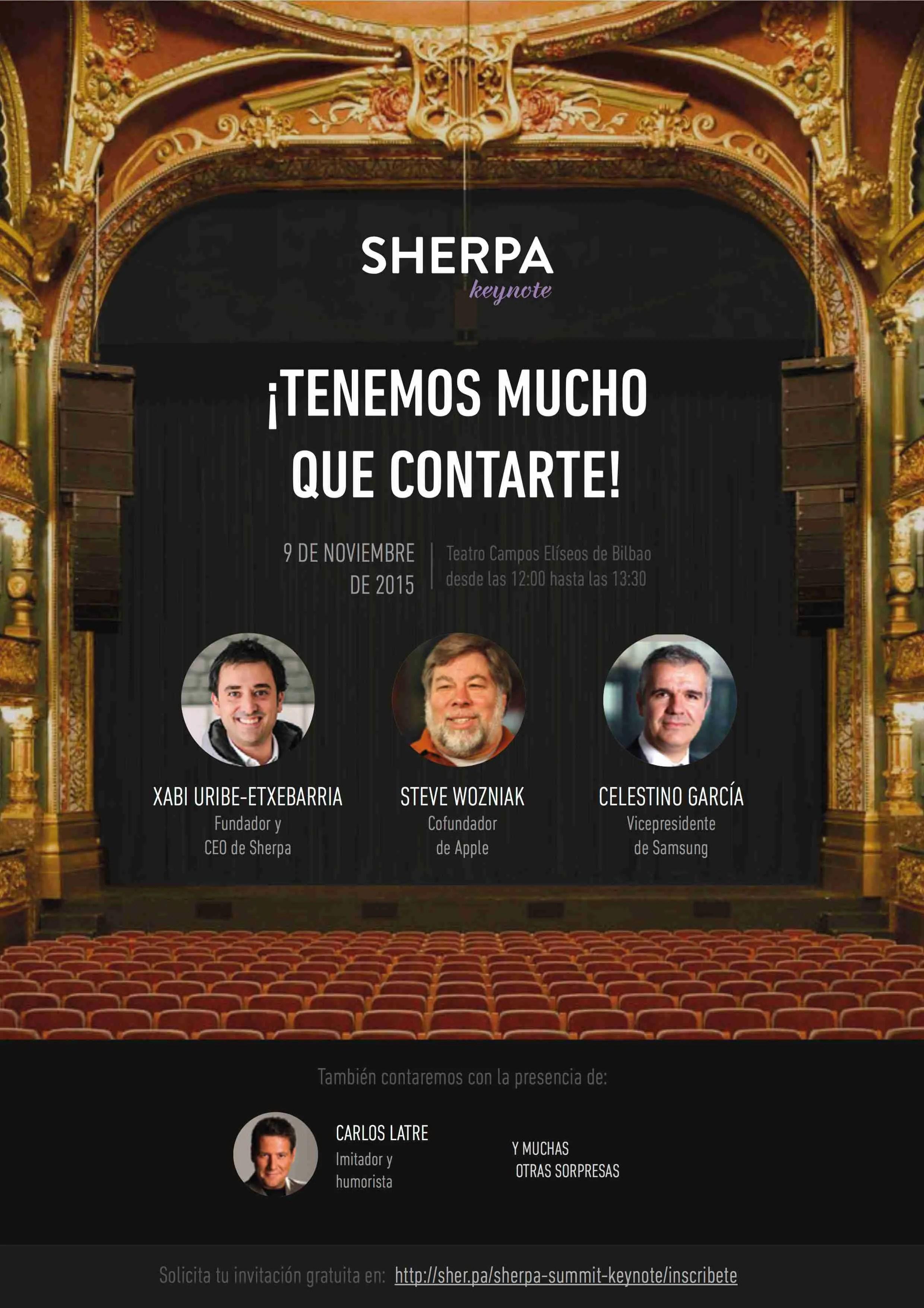 """Featured image for """"Steve Wozniak en el primer Sherpa Keynote el 9 de noviembre en Bilbao"""""""