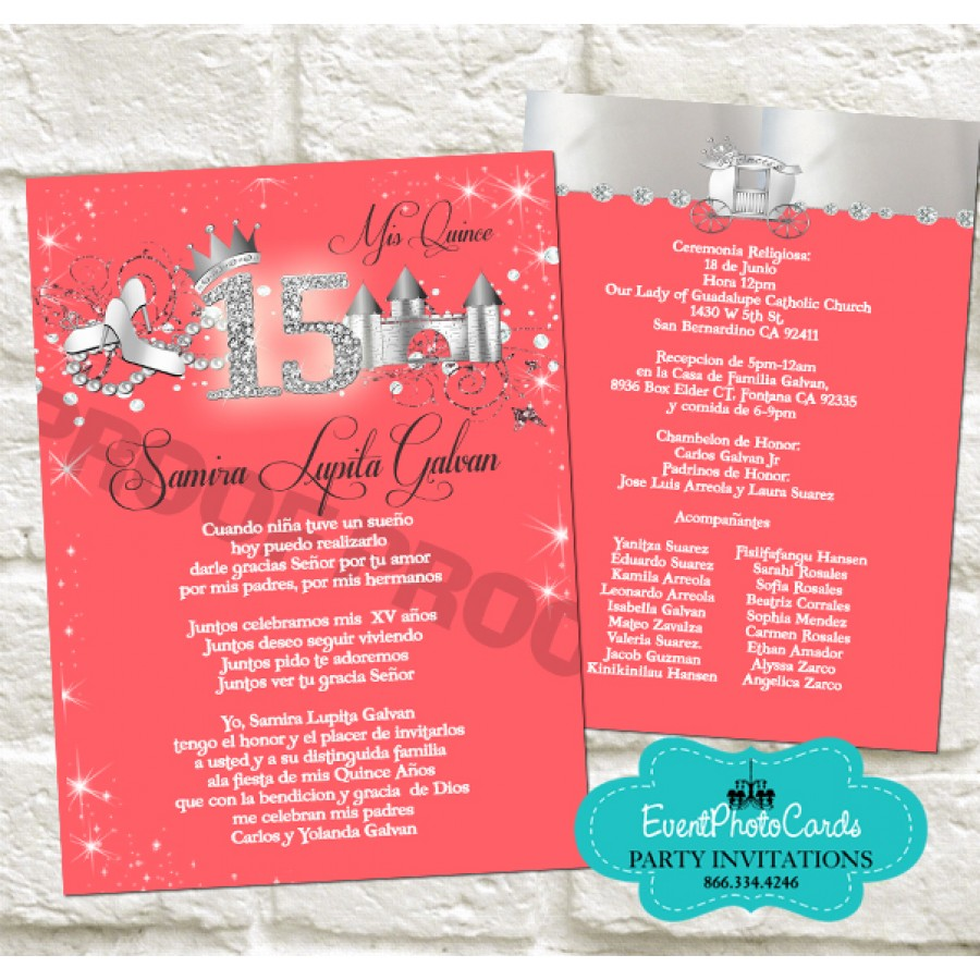 Custom Invitations Sweet 16