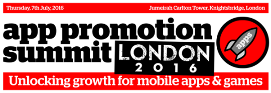 App Promotion Summit London 2016 @ Jumeirah Carlton Tower