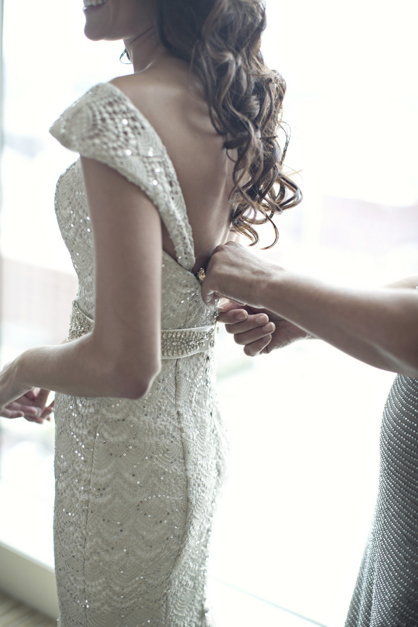 sequin wedding gown sparkle lace