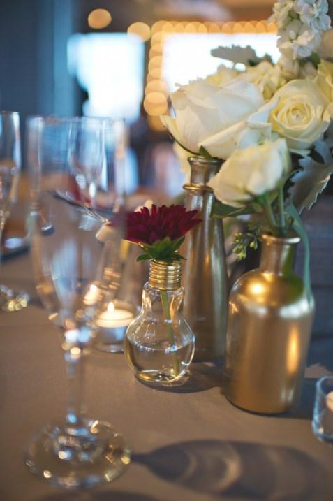 Bud vase collections burgundy dahlia and lighbulb budvase