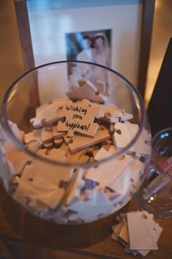 Wedding guest book puzzle pieces