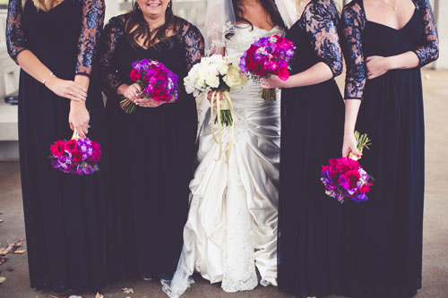 Magenta & Eggplant Bridal Party | Events Luxe Weddings