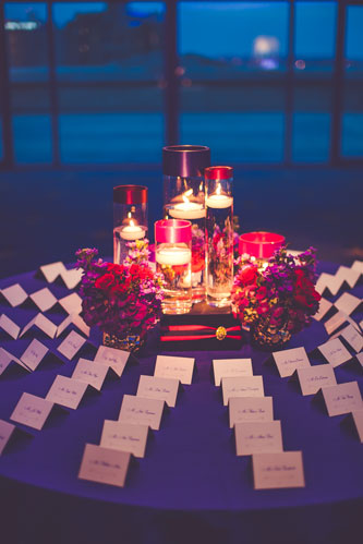 Magenta & Eggplant place settings | Events Luxe Weddings