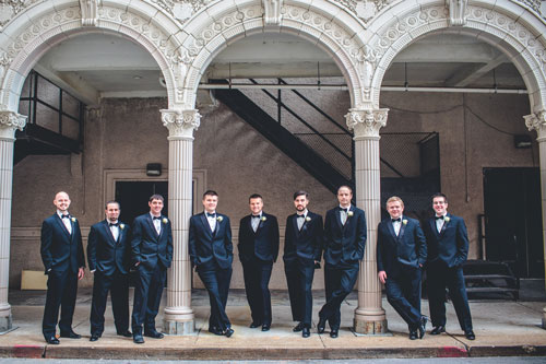 groomsmen at winter white wedding in st. louis | Events Luxe weddings