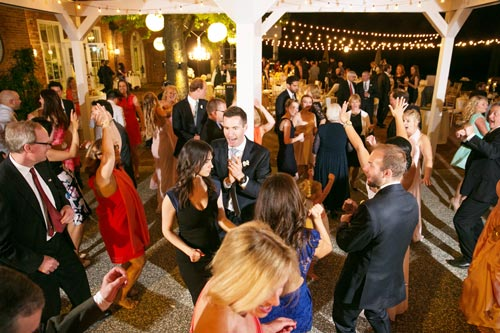 Dancing at the Reception under the stars at Old Warson Country Club | St. Louis Weddings by Events Luxe