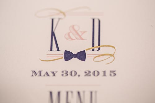 Papercut Invites Wedding Menu | St. Louis Weddings by Events Luxe
