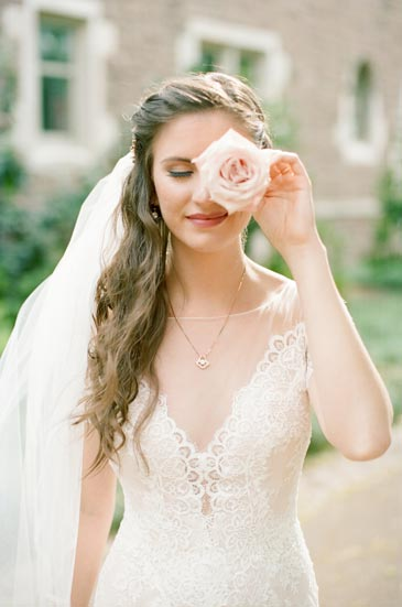 Bride with Rose | Events Luxe Weddings