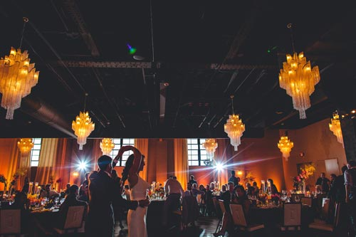 Bride & Groom at Wedding Reception at Caramel Room | Bissingers Weddings by Events Luxe