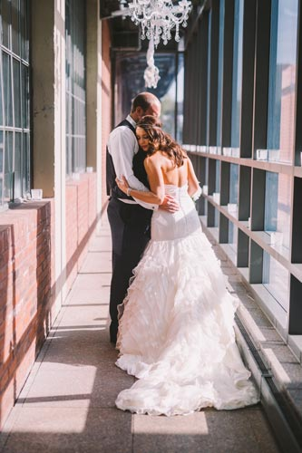 Bride & Groom at Westin Hotel St. Louis | Weddings by Events Luxe