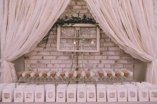 Guest setup at wedding reception St. Louis | Weddings by Events Luxe