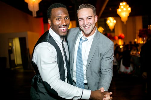Groom & Friend at the Caramel Room | Events Luxe Wedding