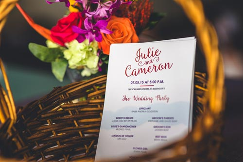M Haley Designs programs for summer weddings | Weddings by Events Luxe