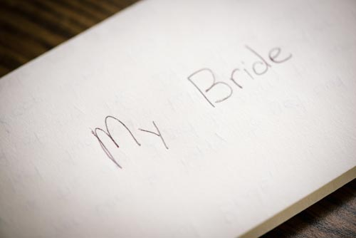 Note from groom | Events Luxe Weddings
