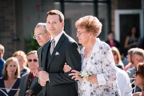 Groom walking mother down the aisle | Events Luxe Weddings