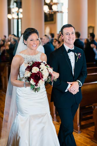 Bride & Groom at Old Cathedral St Louis | Weddings by Events Luxe