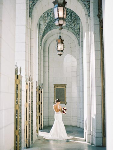 Bride & Groom at Old Cathedral St. Louis | Events Luxe Weddings