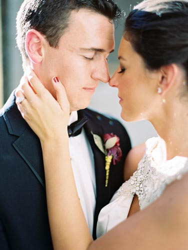 Bride & Groom at Old Cathedral St. Louis   Events Luxe Weddings