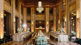 Veronica & Harley – Romantic-Mod, Black Tie Wedding at the Peabody Opera House