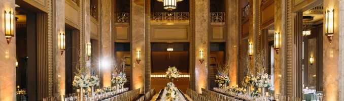 Veronica & Harley – Romantic-Mod, Black Tie Wedding at the Peabody Opera House