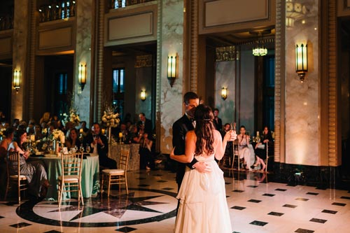 Bride & Groom at Black Tie Wedding at the Peabody Opera House | Events Luxe Weddings