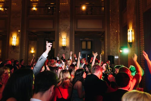 Dancing at the Peabody Opera House wedding | Events Luxe Weddings