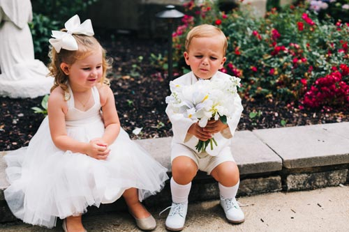 Ring Bearer doesn't like the flowers | Events Luxe Weddings