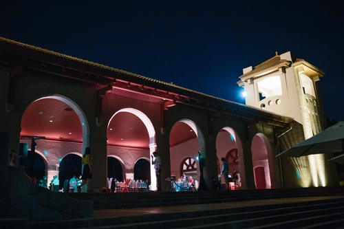 World's Fair Pavilion wedding at night | Events Luxe Weddings