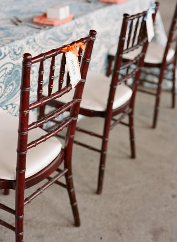 Wooden chairs at World's Fair Pavilion | events Luxe Weddings