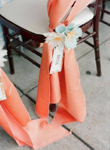paper flower chair covers | Events Luxe Weddings