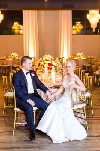 Bride & Groom at Caramel Room | Events Luxe Wedding
