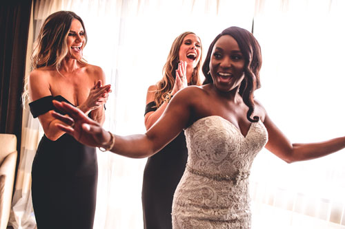 Bridal party getting ready | Events Luxe Weddings