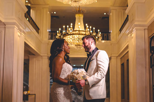 Bride & Groom at Caramel Room | Events Luxe Weddings