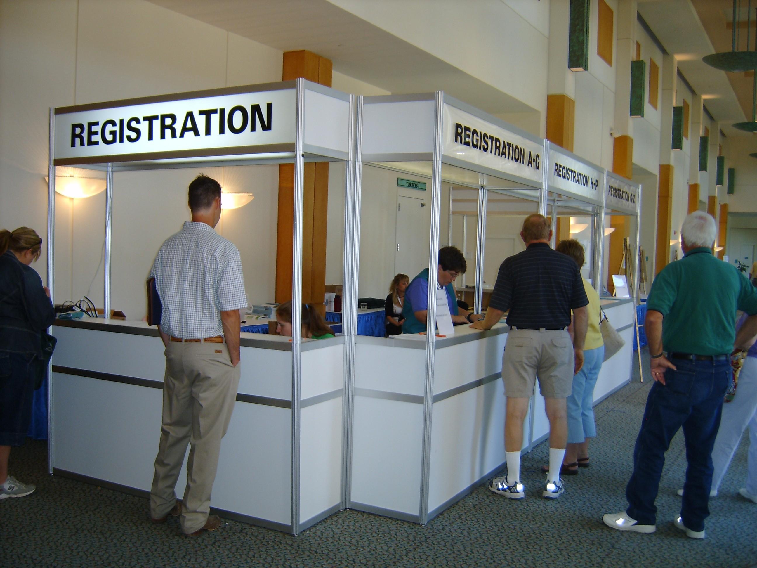 Orlando Registration Booth Rental