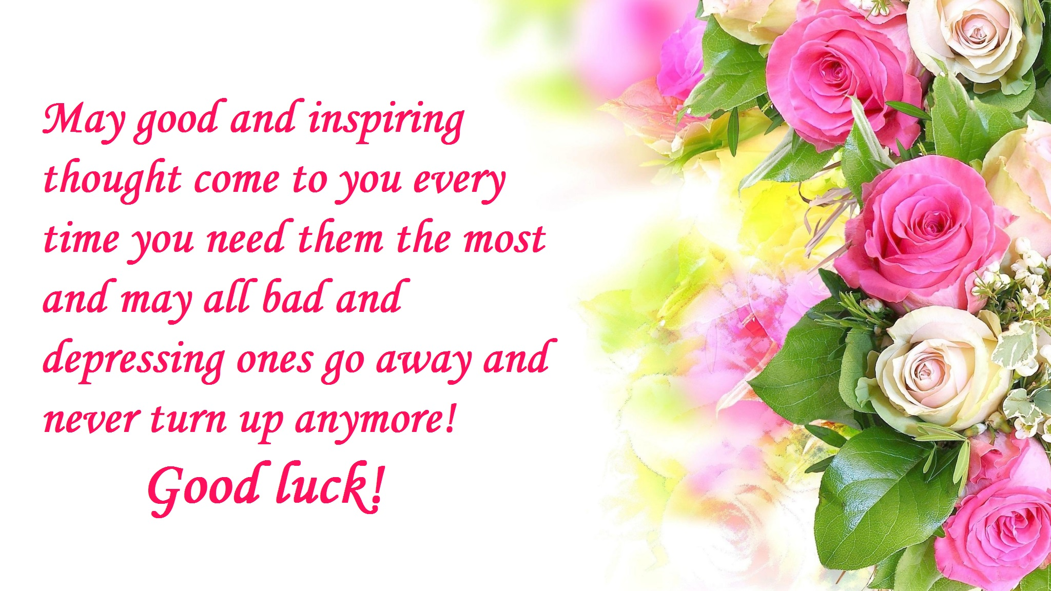 Beautiful good luck quotes wishes 2017 hd images free download kristyandbryce Images