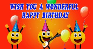 happy birthday card with smiley image 2017