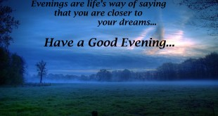 image for evening quotes