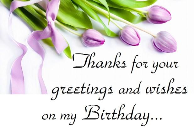 Bildergebnis für thanks for your wishes on my birthday