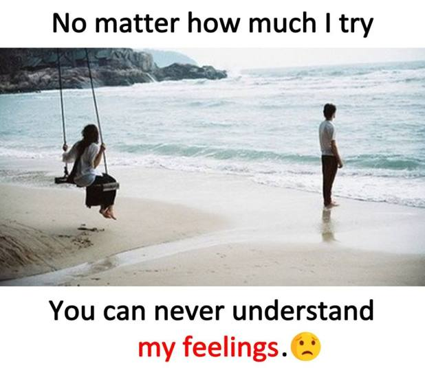 You can never understand my feelings wallpaper