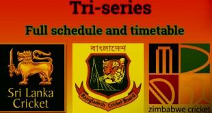 Bangladesh Tri Series 2018 Schedule