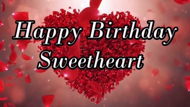 happy birthday sweetheart image 2018