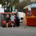 Setting up for Coconut Grove Art Festival