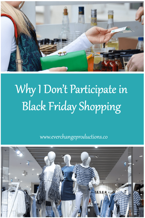 There are many reasons not to participate in Black Friday shopping. Let's make Black Friday the new Green Friday by working together to consume less junk.