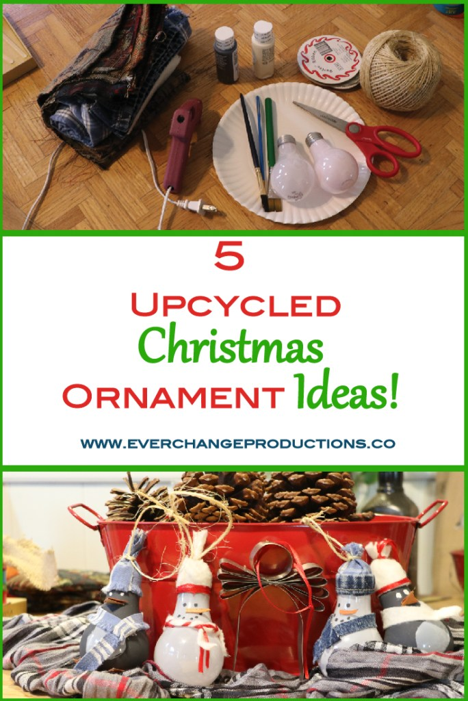 Christmas ornaments hold a special place in our house, especially the handmade ones. See these Christmas ornaments from items around the house.