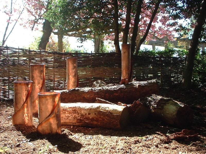 Everchanging Garden Design Hertfordshire Knebworth Copper Sculpture