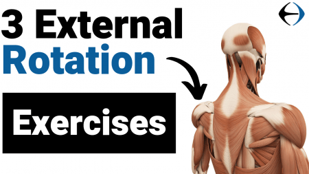 3 external rotation exercises - youtube thumbnail