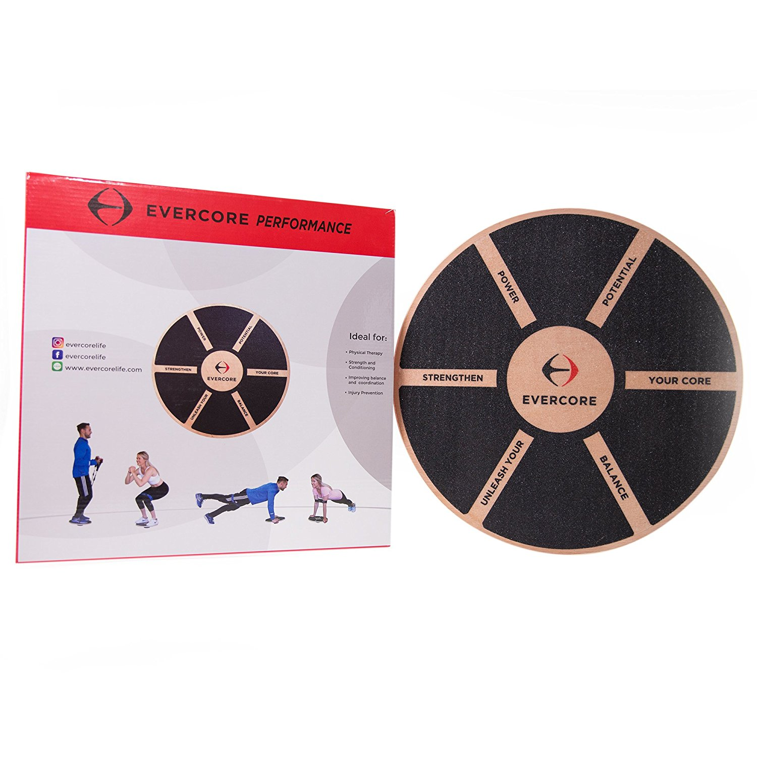 EVERCORE-Balance-Board-Increase-Core-Strength-ACL-Rehab-Physical-Therapy-Prevent-Ankle-Sprains-Balance-Training-So-B0718X6HQ4