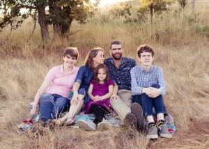 Photo of Tuttle family taken in 2019