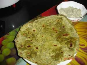 healthy and tasty  Spinach Paratha DSC01513 300x225