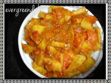 potatoes in gravy